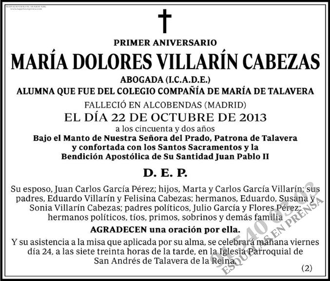 María Dolores Villarín Cabezas